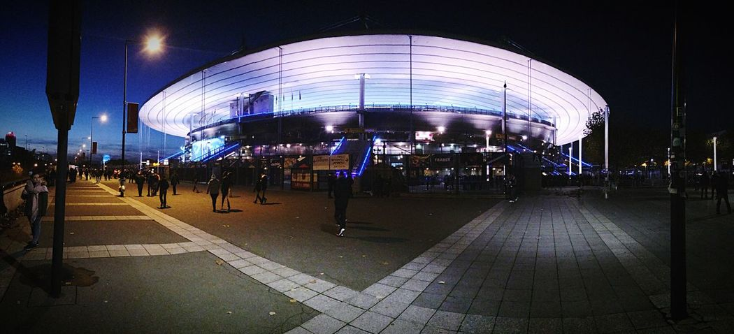 Stade De France 11 Novembre 2016 France Suede Illuminated Architecture Real People Large Group Of People City Men Night Built Structure Women Dome Fish-eye Lens Adults Only People Outdoors Adult 🇫🇷🇫🇷🇫🇷