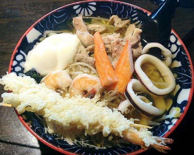 Japanese Food Udon Noodles Seafood Tempura Squid Japanes Udon Meal Lunch Dinner Tasty Delecious Jtown Hungry Shrimps Chiken Japanese  Soup