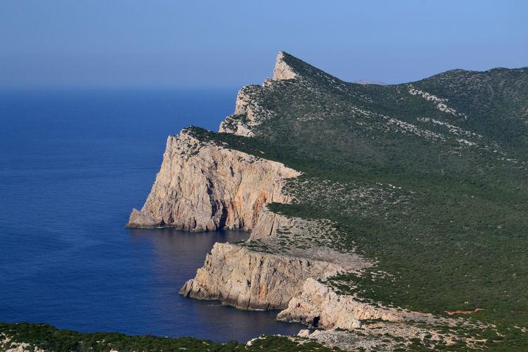 View of punta cristallo and cala barca