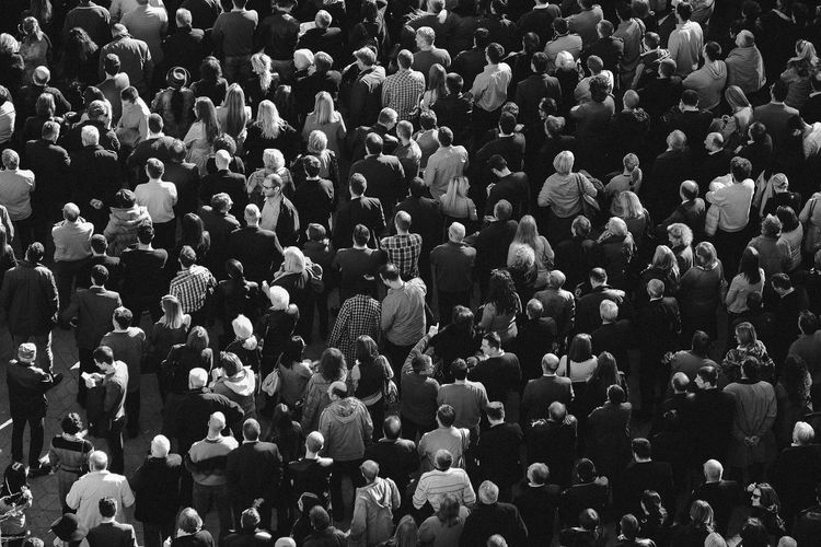 Crowd Adult Adults Only Audience Crowd Day Full Frame High Angle View Large Group Of People Men Outdoors People Protest Real People Standing The Photojournalist - 2017 EyeEm Awards Women The Street Photographer - 2017 EyeEm Awards Adventures In The City The Photojournalist - 2018 EyeEm Awards