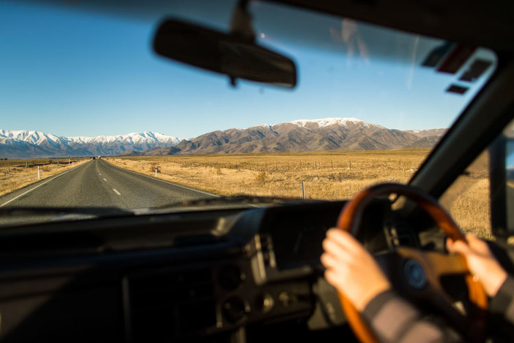 On a road trip through the south island of New Zealand. Mostly spent driving through Otago. Adventure Car Driving Mode Of Transport New Zealand Personal Perspective Transportation Windshield