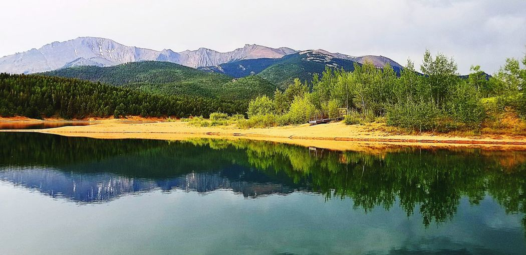 Reflection Mountain Lake Outdoors Beauty In Nature Crystal Reservoir Colorado Spring
