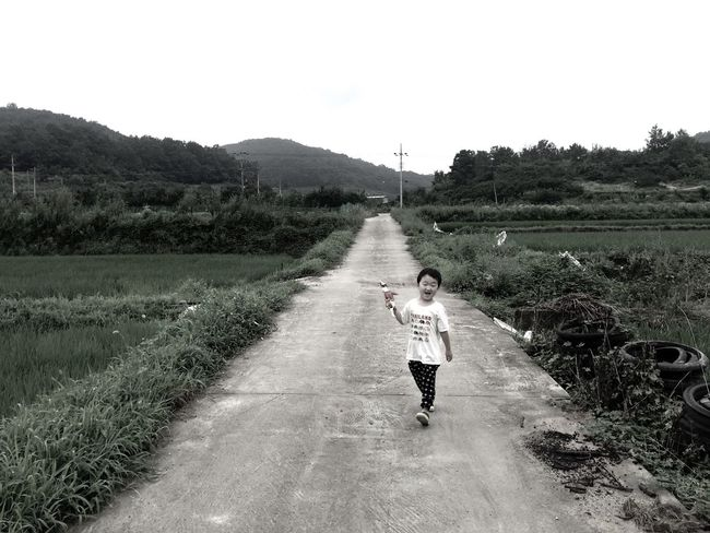 The Journey Is The Destination On The Way Country Life Child Childhood Nature Landscape IPhoneography Showcase July