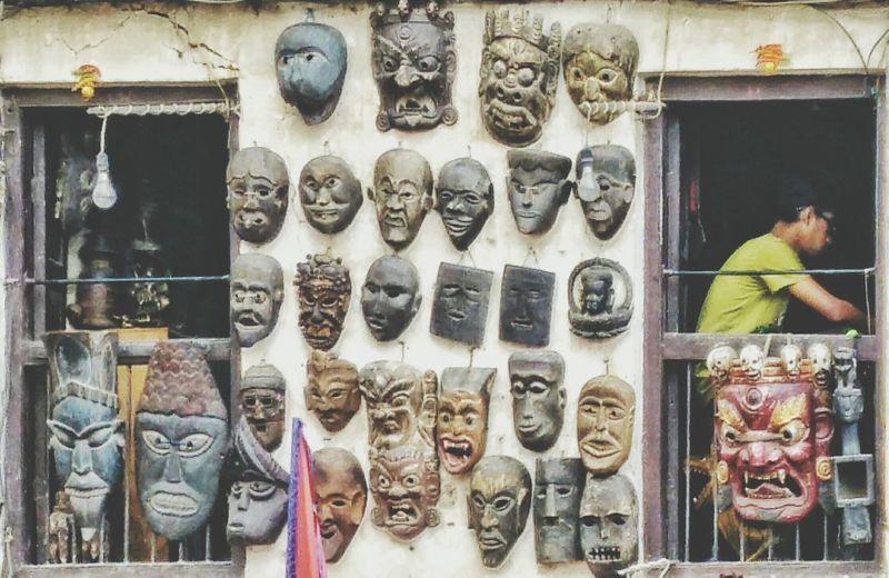 Beauty lies within Candid Basantapur nepal travelNepalipeople😊 Masks Randomnesia_