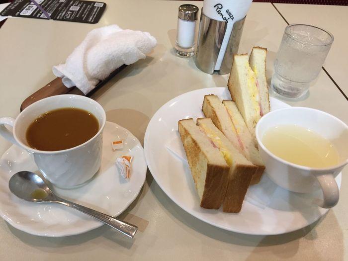 ブレンドコーヒーとベーコンタマゴトースト