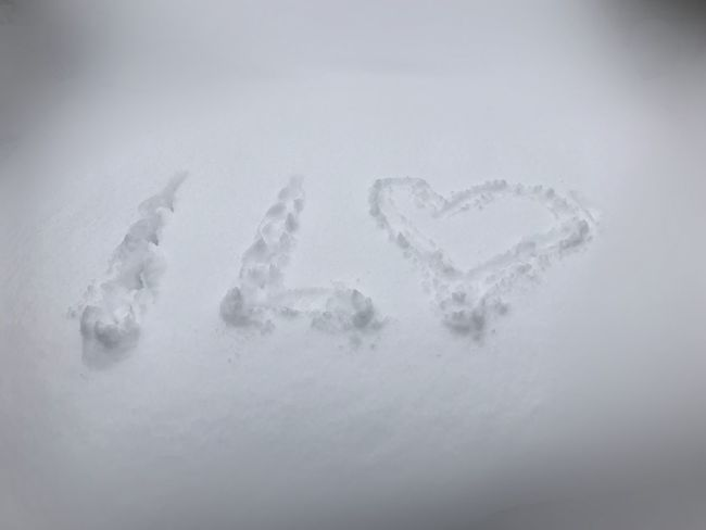 Heart Writing On Snow Snow Winter Cold Temperature White Color