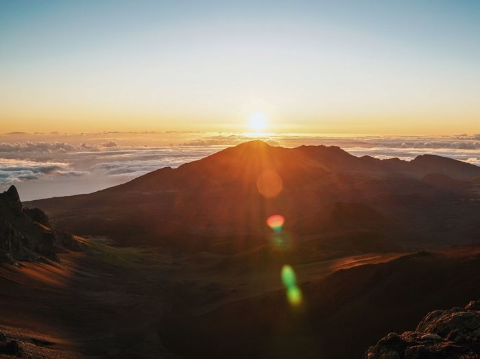 The Great Outdoors - 2017 EyeEm Awards Maui Clouds Sunrise Sunshine Mountain Summit Above The Clouds Nature Landscape