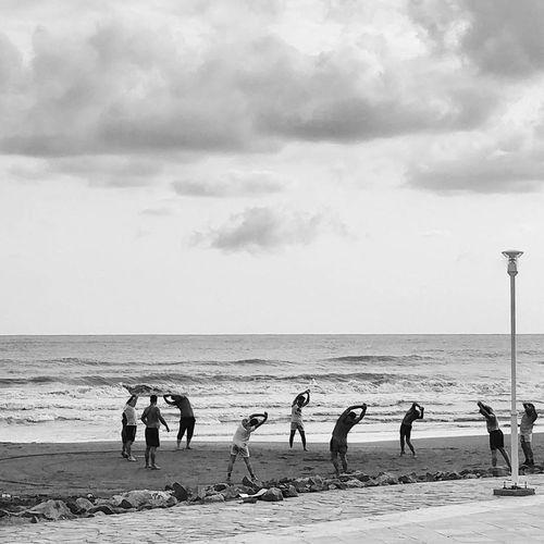 Blankandwhite B&w Earlymorning  Exercise Beach Sea Morningwalk First Eyeem Photo