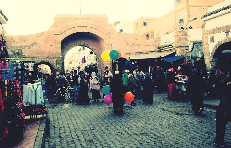 Marocco Marokko Essaouira Medina Luftballon ballons