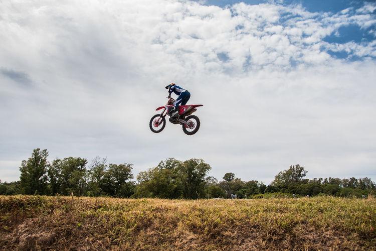 Motocross race extreme sports