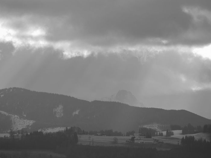 the alps seen from Kempten Cloud - Sky Sky Mountain Environment Beauty In Nature Scenics - Nature Nature Mountain Range No People Landscape Tree Storm Tranquility Architecture Plant Overcast Tranquil Scene Outdoors Day TOWNSCAPE Alps Allgäu Allgäuer Alpen