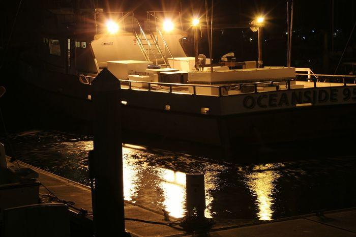 Night Illuminated Lighting Equipment No People Nautical Vessel Outdoors Marina Bay Oceanside Oceanside, Ca Architecture Vacations Sky Water Sea