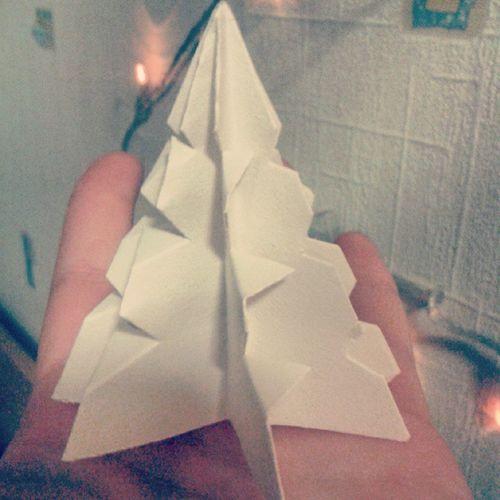 Nauja eglutes versija!:D Christmastree Christmas White Origami Tree Nuobodu Barake Lietuva Šiauliai Kelme