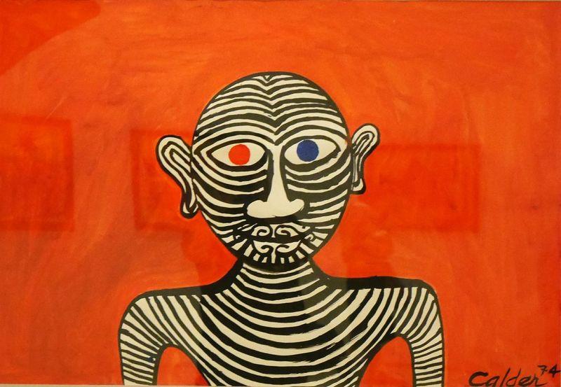 Exposition temporaire Calder au Musee Soulages Rodez - Painting Human Representation Art Gouache Gouache Painting Red Museum Modernart Rodez Aveyron