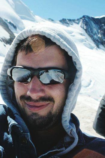 Winter Front View Sunglasses Portrait Saasfee Allalin