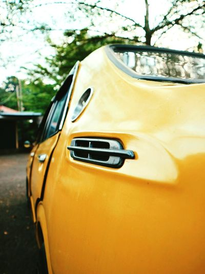 Classic Car' @corolla Car Yellow Transportation Streetphotography Sellphotos Indonesia6am Tree Yellow Taxi Outdoors No People Day first eyeem photo