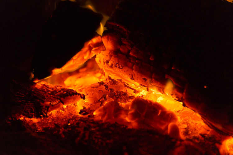 Burning Close-up Flame Heat - Temperature Lava Nature Night No People Outdoors