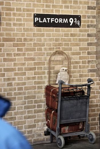 Brick Wall Harry Potter Harry Potter ❤ Harrypotter Indoors  Kings Cross Station Plataform9¾ Wall - Building Feature