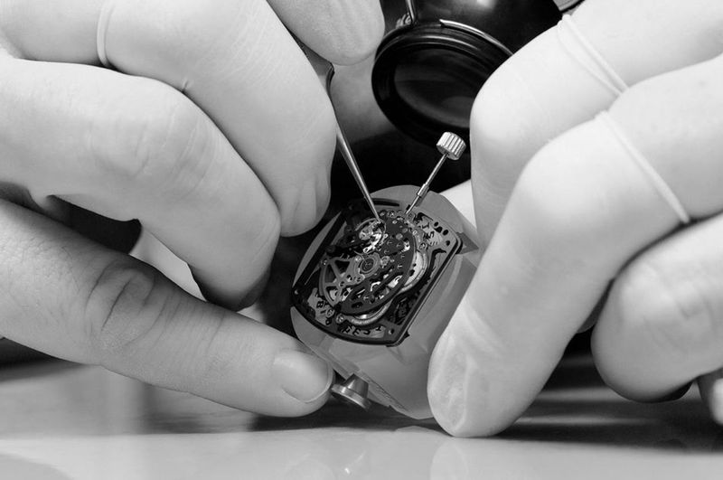 Watchmaker work with watch. Watch Watchmaker