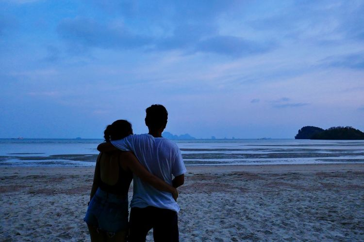 Sea Beach Water Two People Land Sky Togetherness Love Emotion Men Beauty In Nature Real People Outdoors