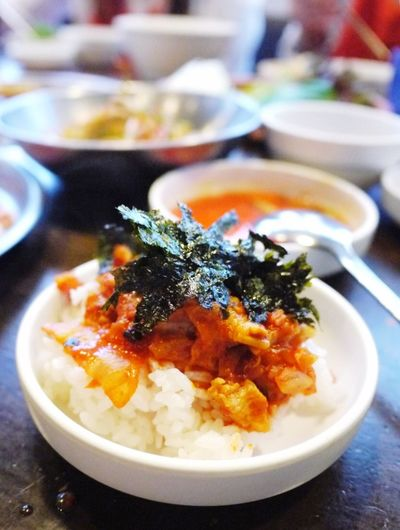 Korean Food Seoul 새마을식당 7분김치찌개 7 Minutes Kimchi Jjigae Yummy♡