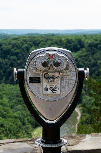 Letchworth, United States Letchworth - The Grand Canyon Of The East Nature Binoculars Close-up Coin Operated Coin-operated Binoculars Day Focus On Foreground Hand-held Telescope Land Landscape Letchworth State Park Metal Nature New York State No People Observation Point Outdoors Plant Scenics - Nature Silver Colored Sky Travel Travel Destinations Tree