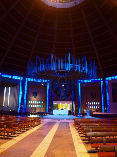Calmness EyeEmNewHere Liverpool Metropolitan Cathedral Architecture Built Structure Catherdral Illuminated Indoors  No People
