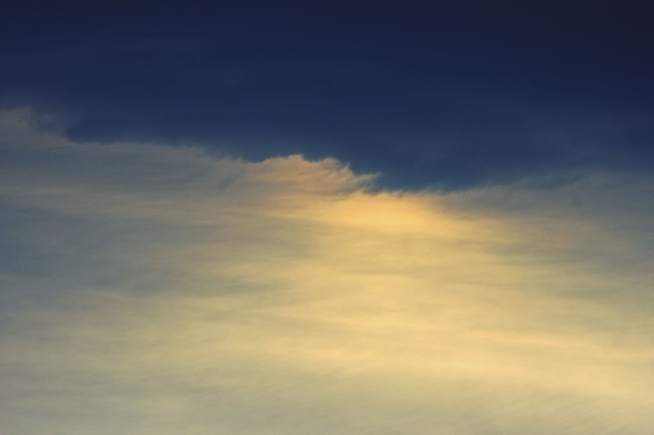 cloud - sky, sky, nature, beauty in nature, scenics, tranquility, sunset, sky only, backgrounds, no people, majestic, tranquil scene, low angle view, outdoors, day