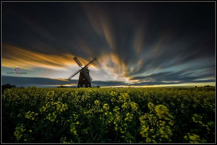 John Webb's Mill. Sunrise Clouds Sky Long Exposure Alternative Energy Traditional Windmill Blooming Flower Head Petal
