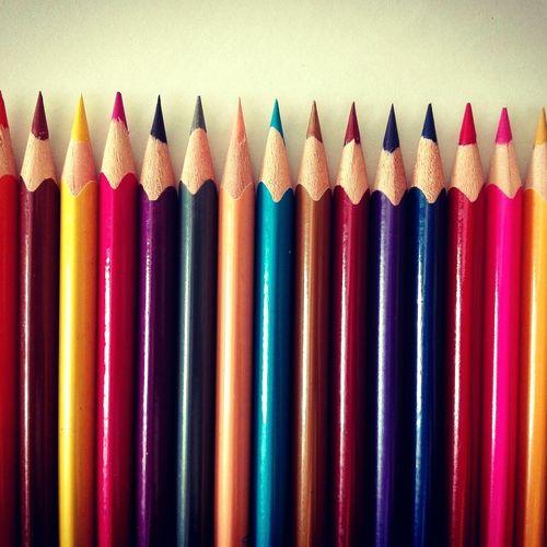 #art EyeEm Selects Multi Colored Studio Shot Choice Variation Variety Crayon Colored Pencil Close-up