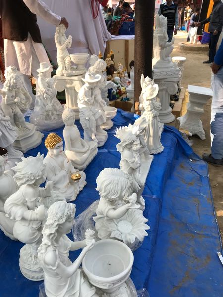 Art And Craft Sculpture Creativity White Color Statue Representation Religion Spirituality Architecture Female Likeness Craft
