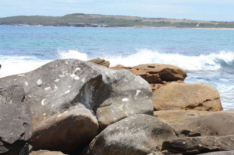 Rocks at Maroubra Beach EyeEm Selects Sea Water Nature Rock - Object Beauty In Nature Beach Outdoors No People Wave Day Sky Scenics