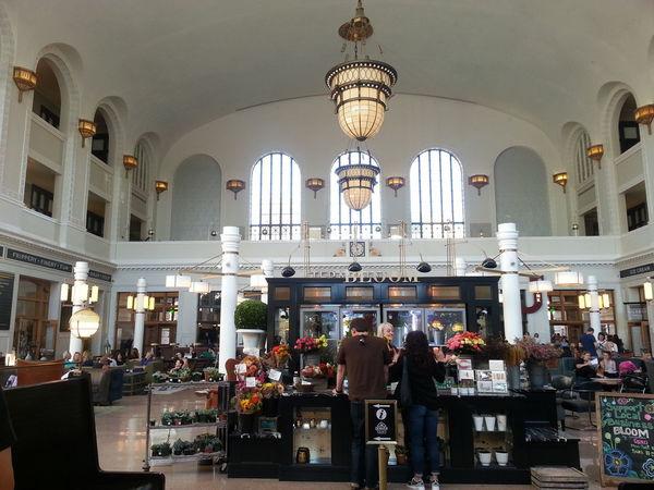 Denver Colorado  Indoors  Old Buildings Railway Station Waiting Area