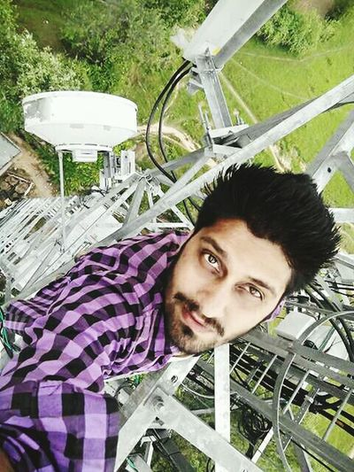 I have nothing to say about this pic. Just imagine the scene and try to feell that you're hanging on tower without safety instruments. Headshot One Person Adults Only Lifestyles Young Adult Only Men People Day Adult EyeEmNewHere