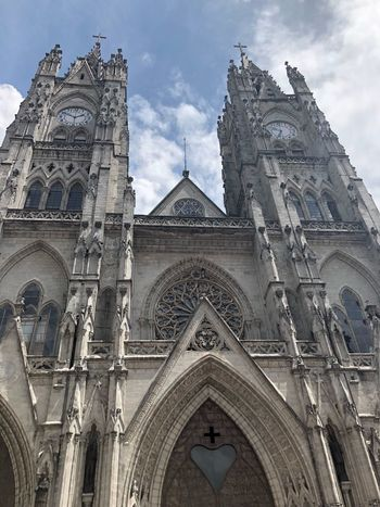 Religion Place Of Worship Church Quito Architecture Low Angle View Arch Sky No People Built Structure Day Building Exterior