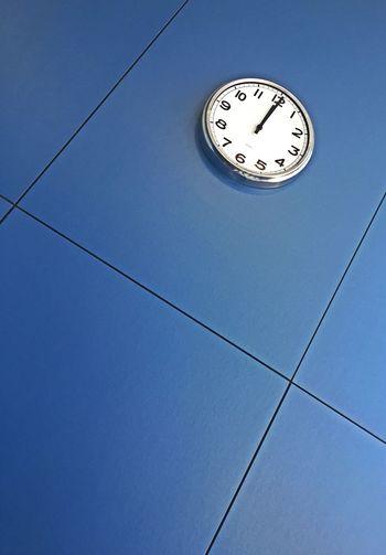 Clock Time No People Blue Clock Face Wall Clock Tiempo Tempus Fugit Tiempo Reloj Relojes De Pared  Azul