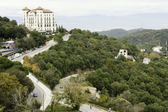 City Architecture Sky Scenic Landscapes Scenic View Hilltop House On The Hill Road Forest Tree High Angle View