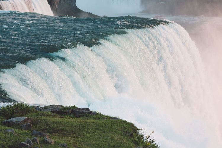 Niagara Falls Tourist Attraction  Beauty In Nature Day Force Long Exposure Motion Nature No People Outdoors Power In Nature Scenics Sky Sunset Tourism Tourist Destination Travel Destinations Water Waterfall