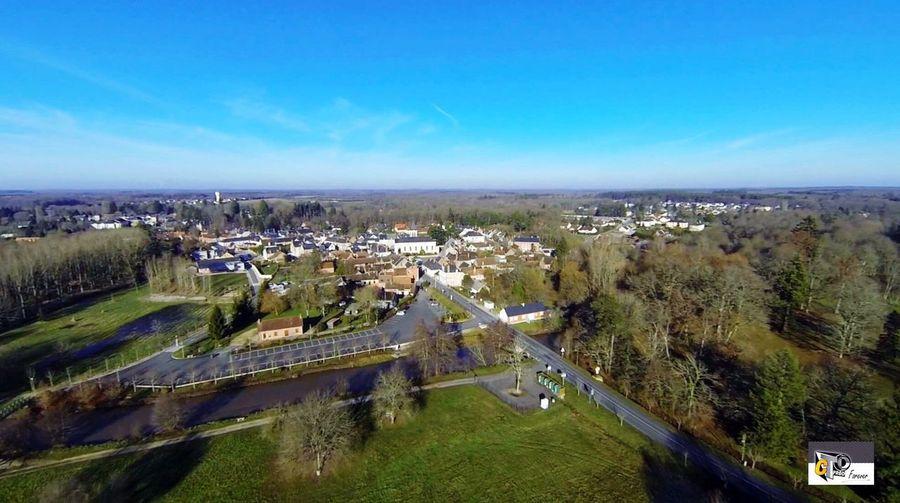 Vue aérienne de Neung sur Beuvron Drone  Sologne Loiretcher