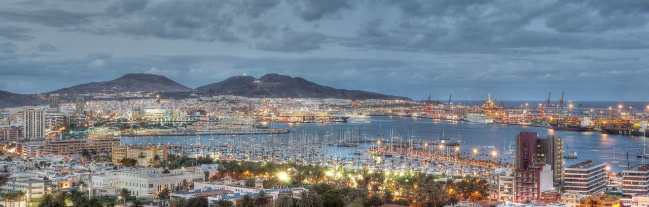 lights of sunset City Cityscape No People Travel Destinations Sky Canary Islands Gran Canaria Ligths In The City Canarias Lights