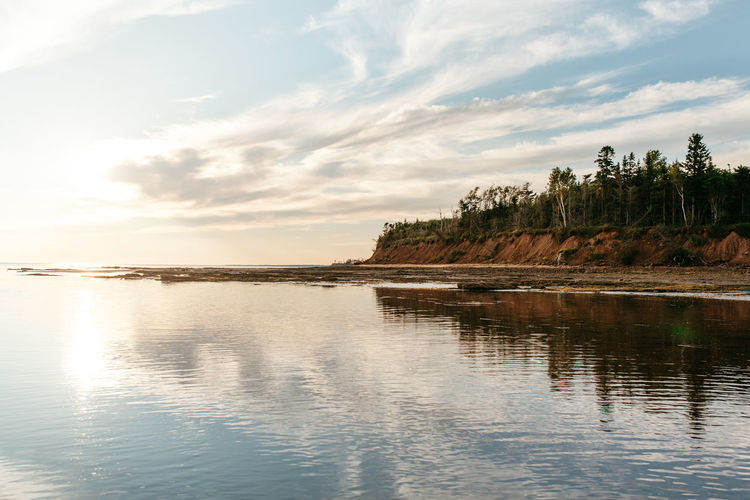 Low Tide Atlantic Atlantic Ocean Beauty In Nature Bluffs Calm Clouds East Coast Ocean Outdoors Prince Edward Island Reflection Remote Rippled Scenics Standing Water Sunset Tidal Pool Tranquil Scene Tranquility Tree Water Waterfront Landscapes With WhiteWall The Great Outdoors - 2016 EyeEm Awards