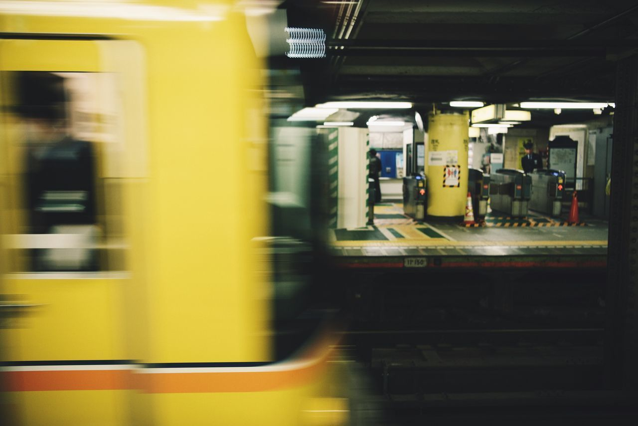 transportation, public transportation, train - vehicle, blurred motion, rail transportation