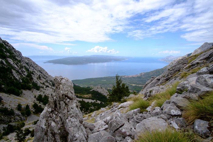 Croatia Beauty In Nature Biokovo Brela  Cloud - Sky Day Landscape Mountain Nature No People Outdoors Scenery Scenics Sky Tranquil Scene Tranquility Water