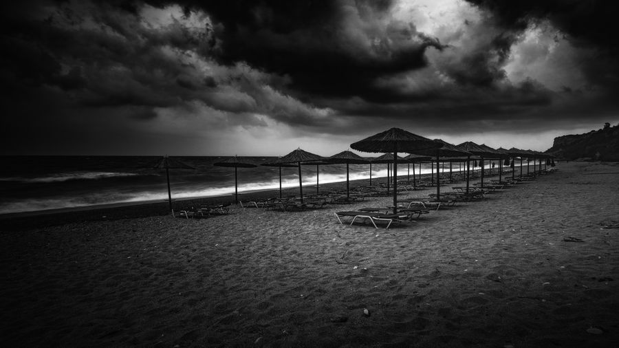 Storm is coming Storm Beach Cloud - Sky Greece Kefalonia No People Outdoors Sand Sea Sky Sunbeds And Umbrella Water