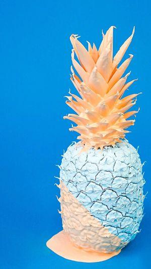 Bir ananas bu kadar güzel olmamıştı. Blue Ananas Like Followme Blue No People Studio Shot Close-up Day First Eyeem Photo