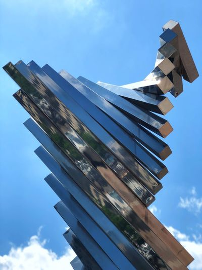 Statues Art Installation Tulsa Tulsaexplorersclub Sky Low Angle View Nature No People Day Built Structure Architecture