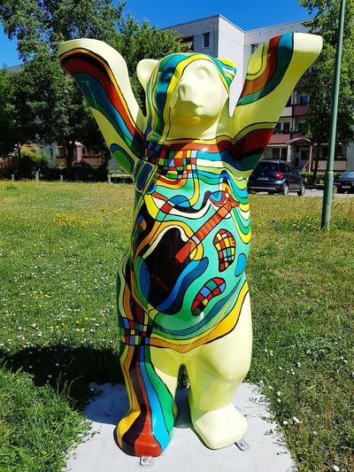 Tourismusziel ArtWork Art Berliner Bär Bears Of Berlin Bear Multi Colored