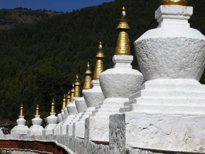 View of white temple