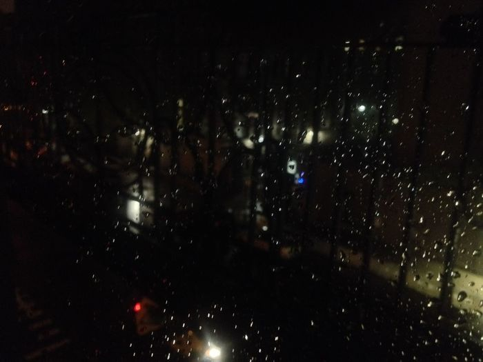 Backgrounds Close-up Drop Full Frame Illuminated Indoors  Nature New York Night No People Nofilter Rain Rain Drops Rain In The City RainDrop Rainy Season Sky Water Weather Wet Window