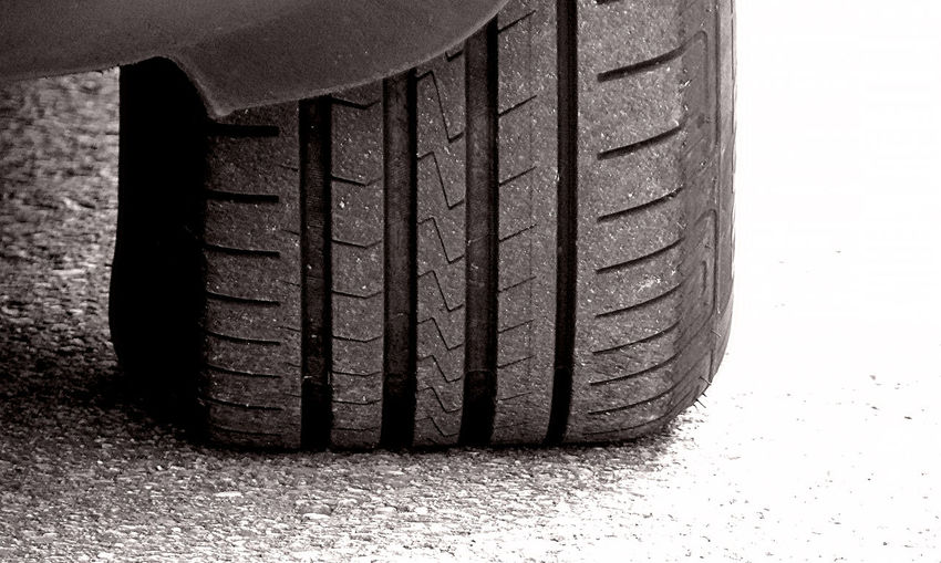 Close-up of car tire